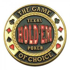 Poker Protector Card Guard Cover in Capsule :  Game of Choice Texas Holdem