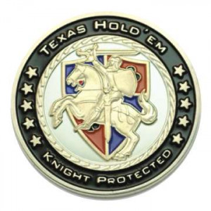 Poker Protector Card Guard Cover in Capsule :  Knight Protected Texas Holdem