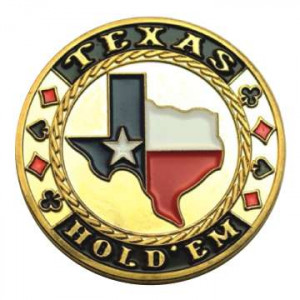 Poker Protector Card Guard Cover in Capsule :  Texas Holdem Map
