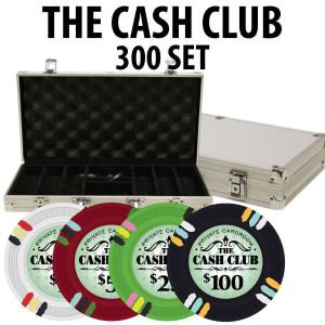 Cash Club 300 Poker Chip set W/ Aluminum case