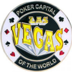 Poker Protector Card Guard Cover in Capsule :  Las Vegas : Poker Capital of the World