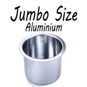 Aluminum Cup Holder Vivid Sliver Jumbo for Poker or Blackjack Table