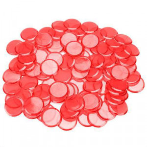 300 Pack of Bingo chips RED