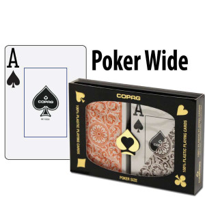 Copag Playing Cards Elite Poker Orange/Brown Jumbo Index