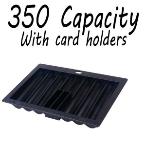 Poker Dealers Tray : 350 tray w/card holders