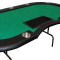 Green Folding Dealer Poker Table close up