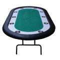 Green Racetrack Poker Table side
