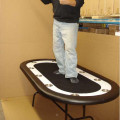 Blue Racetrack Poker Table Standing