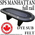 Poker Table SPS Manhattan Full Rail