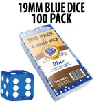 PACK OF 100 Bulk Casino 19mm Blue Dice