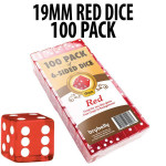 PACK OF 100 Bulk Casino 19mm Red Dice
