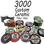 Custom Ceramic Poker Chips 10g Chips : 3000 chips