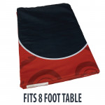Dye Sublimation Casino Poker Table Cloth - RED ELITE Design for 8 x 4 foot table