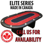 POKER TABLE SPS ELITE - Red Full Bumper Table With Box Style Legs