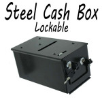 Powder Coated Solid Steel Poker Chip Cash Drop Box