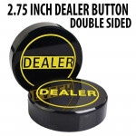 3 inch Hockey Puck Style Acrylic Double Sided Dealer Button