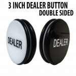 3 Inch Large Double Sided Texas Holdem Poker Dealer Button