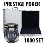 Prestige Poker Chips 1000 Chip Set with Aluminum Case