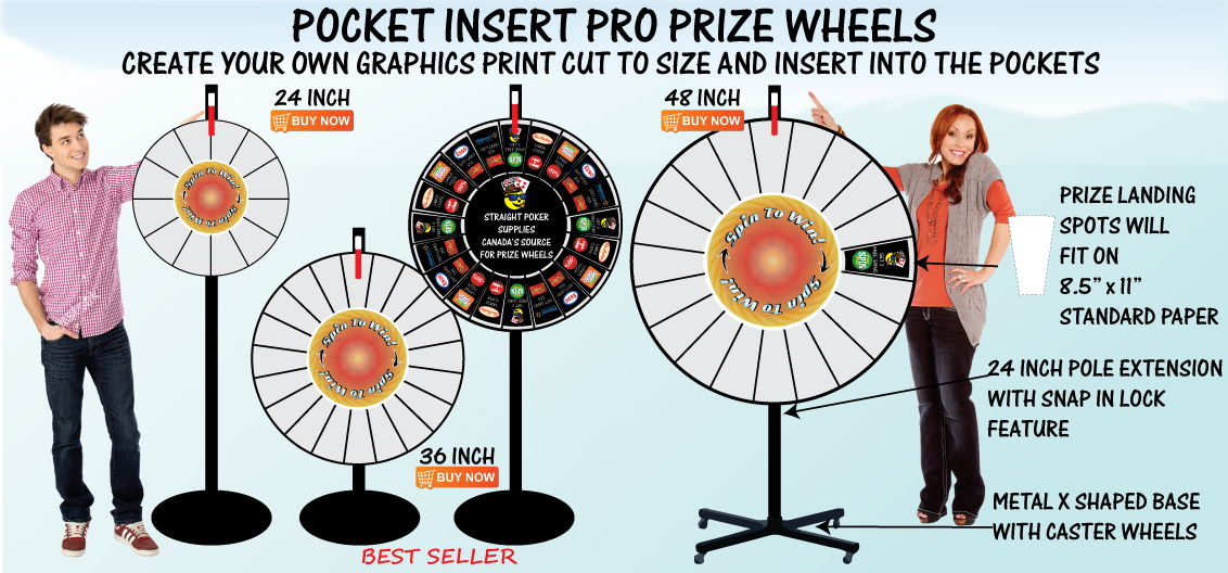 Pocket Insert Pro Prize Wheels