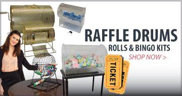 Raffle Drums, Rolls and Bingo Kits