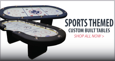 Sports themed custom poker tables