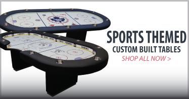 Sports themed custom poker tables